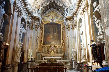 altar: GRASSE, FRANCE - CIRCA JULY 2015 Altar in cathedral