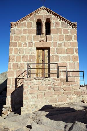 monte sinai: Pequeña iglesia en la cima del monte Sinaí en Egipto