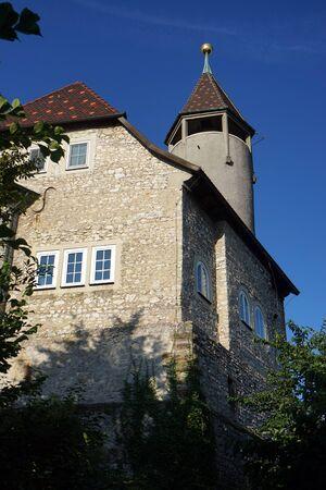 teck: OWEN, GERMANY - CIRCA AUGUST 2015 Tower of Burg Teck castle Editorial