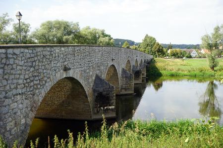 stone arch: Stone arch bridge in Wornitzstein in Swabia, Germany