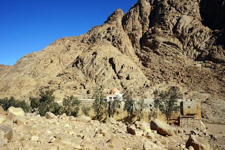 sinai: Sacred Monastery of the God-Trodden Mount Sinai Stock Photo