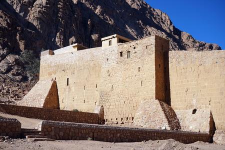 monte sinai: Sacred Monastery of the God-Trodden Mount Sinai Foto de archivo