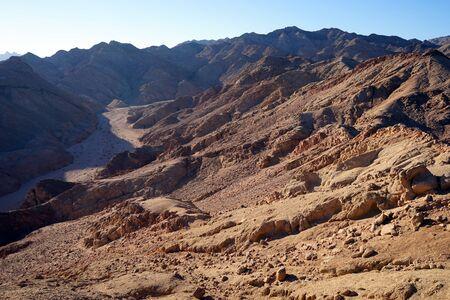 sinai: Wadi oin Sinai mountain near Dahab in Egypt