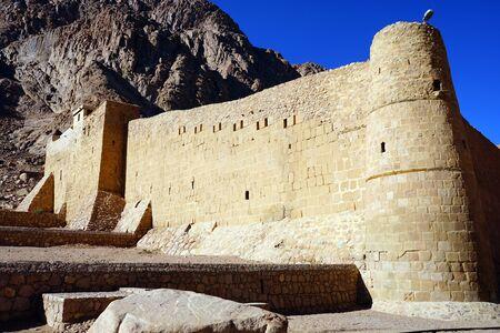 monte sinai: Corner of Sacred Monastery of the God-Trodden Mount Sinai