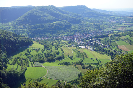 swabian: Green valley in Swabian Alb in Germany