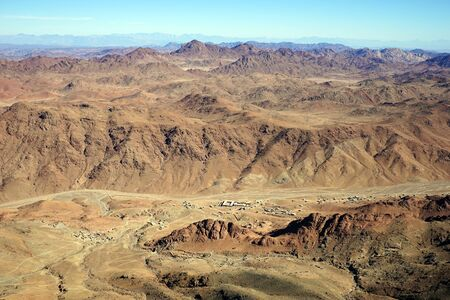 monte sinai: Pueblo, cerca del Monte Sinaí en Egipto