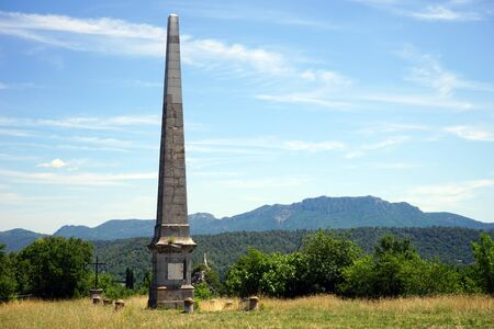 obelisk stone: Old obelisk near Tourves, France
