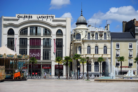 lafayette: PAU, FRANCE - CIRCA JULY 2015 Galeries Lafayette and square Editorial