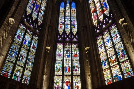 cathedrale: BOURG EN BRESSE, FRANCE - CIRCA JULY 2015 Cathedrale Notre-Dame-de-lAnnonciation