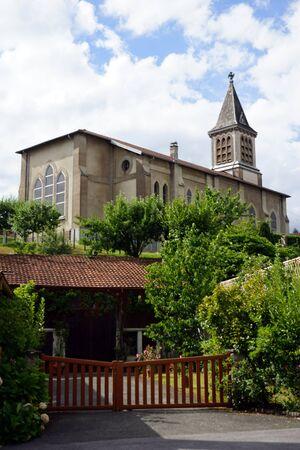parish: DAMPIERRE-LES-BOIS, FRANCE - CIRCA JULY 2015 Parish church