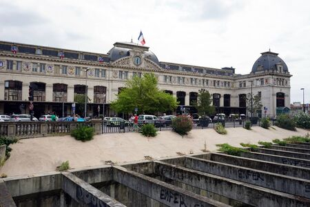 france station: TOULOUSE, FRANCE - CIRCA JULY 2015 Facade of railway station Editorial