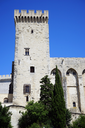 pope: Toweer of Pope palace in Avignon, france