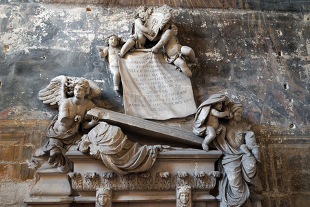 cathedrale: ARLES, FRANCE - CIRCA JULY 2015 Grave inside Cathedrale Saint-Trophime dArles