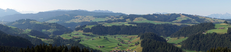 rural area: Panorama of valley in rural area of Switzerland