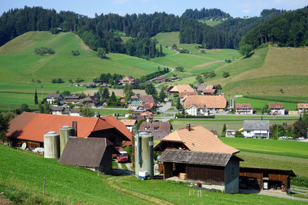 rural area: Swiss village in rural area of Switzerland