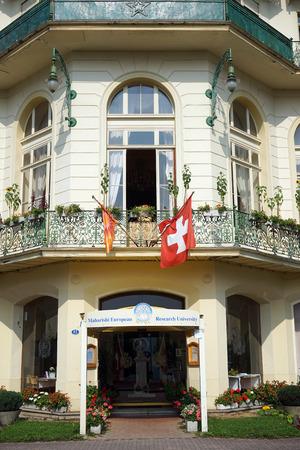 reseach: SEELISBERG, SWITZERLAND - CIRCA AUGUST 2015 Maharishi European Reseach University Editorial