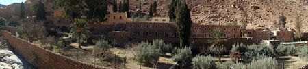 katarina: Garden in Sacred Monastery of the God-Trodden Mount Sinai Stock Photo