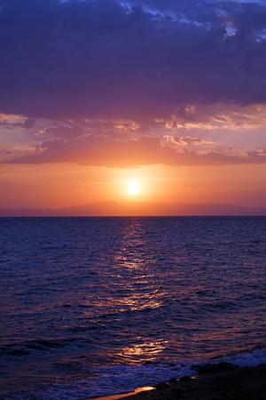 dahab: Sunrise and sea in Dahab, Egypt Stock Photo