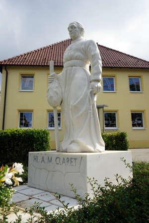 claret: SPAICHINGEN, GERMANY - Monument of A,M,Claret in Dreifaltigkeitsberges