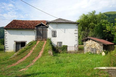 old farm: Old farm house and barn near Pyrenee, France Stock Photo