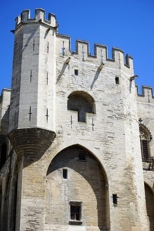 pope: Tower of Pope palace in Avignon, France