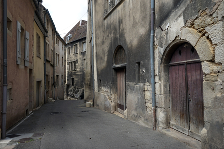 dole: DOLE, FRANCE - CIRCA JULY 2015 Narrow street in Old town