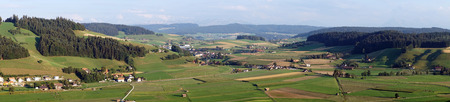 non cultivated land: Green valley in rural area of Switzerland
