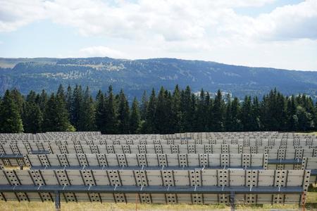 solar power station: ST-IMIER, SWITZERLAND - CIRCA JULY 2015 Solar power station in Switzerland