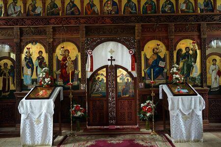 serbia: RACOVAC, SERBIA - CIRCA MAY 2016 Inside church in Racovac monastery Editorial