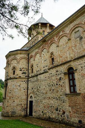 serbia: Wall of old orthodox church in Serbia