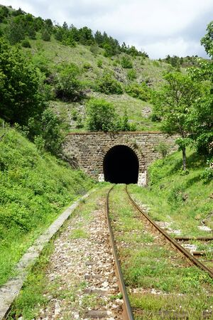 serbia: Railway and tunnel in Serbia