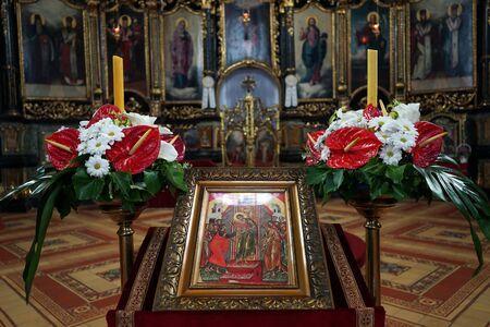 saint nicolas: SREMSKI KARLOVCI, SERBIA - CIRCA MAY 2016 Image inside Saint Nicolas cathedral