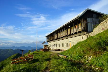 Mountain hut on the mount Porezen in Slovenia