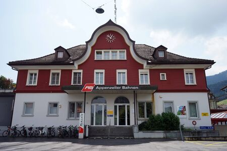 APPENZELLER, SWITZERLAND - CIRCA JULY 2016 Railway station Editorial
