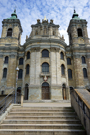 WEINGARTEN, GERMANY - CIRCA AUGUST 2016 Basilica of St. Martin and Oswald and staircase Editorial
