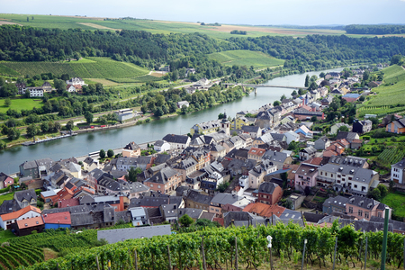 View of Rosport in Mosell valley on the border Luxembourg and Germany