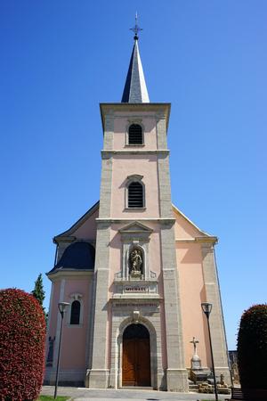 parish: MONDORF-LES-BAINS, LUXEMBOURG - CIRCA AUGUST 2016 Parish church
