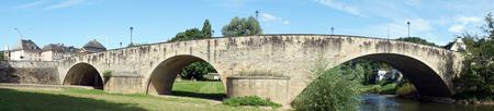 stone arch: Stone arch bridge in Echternach in Luxemboug Editorial