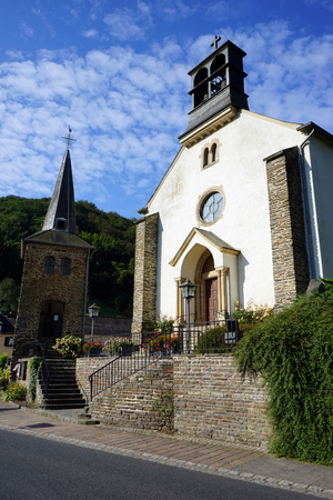 luxembourg: Small church in vilage in Luxembourg