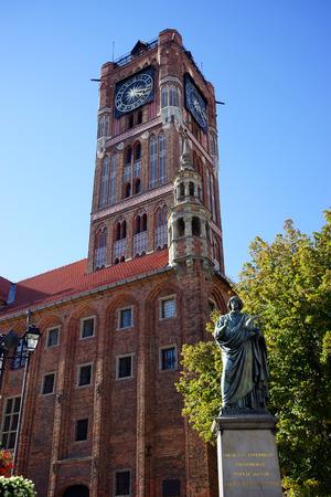 TORUNJ, POLAND - CIRCA AUGUAT 2016 Nicolaus Copernicus Monument