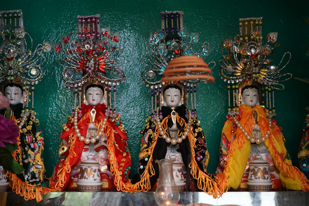 goddesses: Chinese goddesses on the buddhist altar in temple