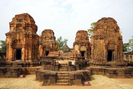 BURIRAM, THAILAND - CIRCA FEBRUARY 2017 Inner yard in Prasat Mueang Tam Stone Sanctuary Editorial