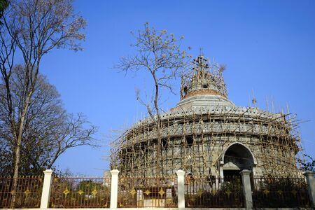 PYIN OO LWIN, MYANMAR - CIRCA APRIL 2017 Buddhist stupa near Dat Taw waterfall
