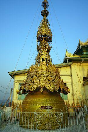 PYAY, MYANMAR - CIRCA APRIL 2017 Shwesandaw Pagoda