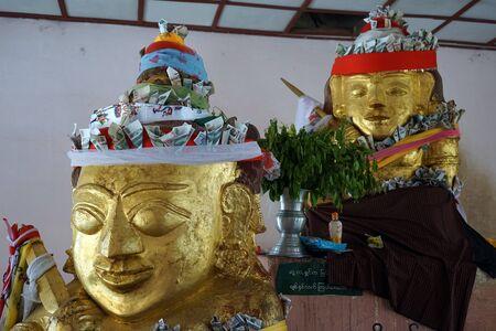 nat: BAGAN, MYANMAR - CIRCA APRIL 2017 Spirits in Shwezigon Pasgoda Editorial