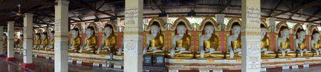 SHWEDAUNG, MYANMAR - CIRCA APRIL 2017 Buddhas in Shwemyetman Paya Editorial