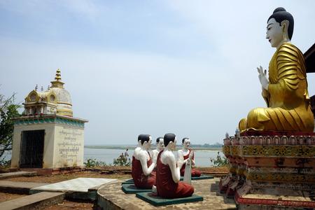 MANDALAY, MYANMAR - CIRCA APRIL 2017 Buddha on the Sagaing Hill