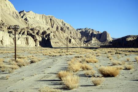 Valle della montagna in Tibet Archivio Fotografico - 92029582