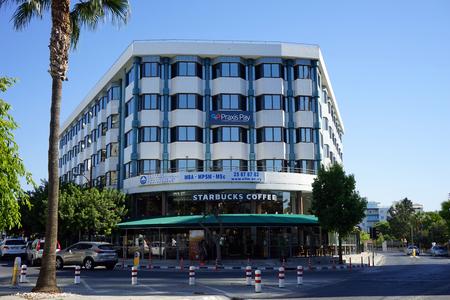 LIMASSOL. CYPRUS - 15 October 2017 Starbucks coffe on the Gladstone street