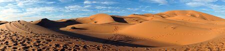 Sahara desert near Merzuga village in Morocco Stock Photo